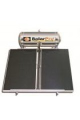 Double energy solar water-heater, INOX, 130 lt, Solar panel Surface 1x1,75 m2 (SP130/2)